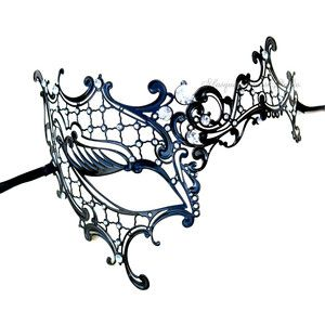 printable lace masquerade mask template with a snake - Google Search