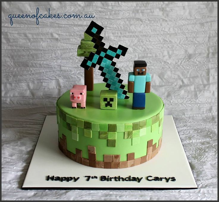 Minecraft - Torte    Das ist wirklich eine schöne Idee zum Kindergeburtstag.Vielen Dank dafür!  Dein blog.balloonas.com    #kindergeburtstag #motto #mottoparty #party #kids #birthday #idea #minecraft