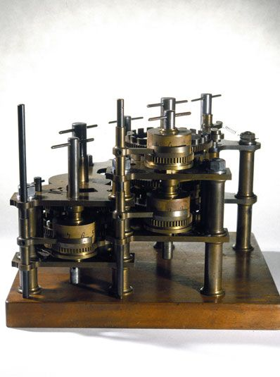 Calculating wheels on Babbage's Difference Engine No 1, 19th century.