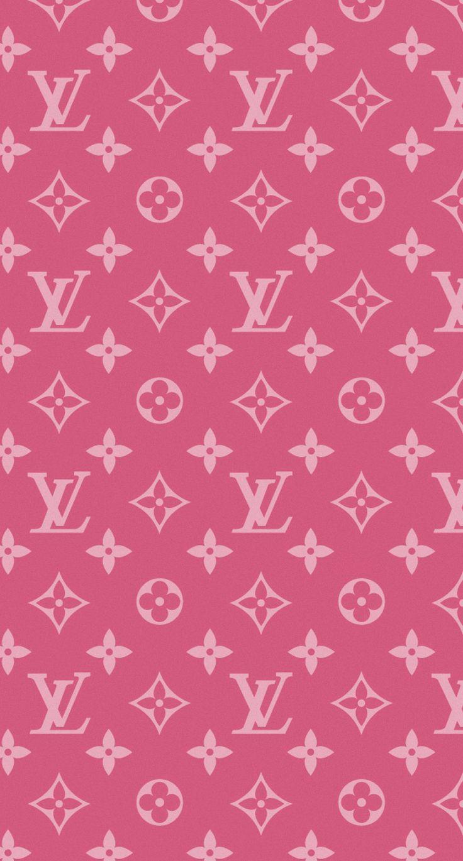ルイ・ヴィトンのピンクモノグラム (With images) Pink wallpaper iphone