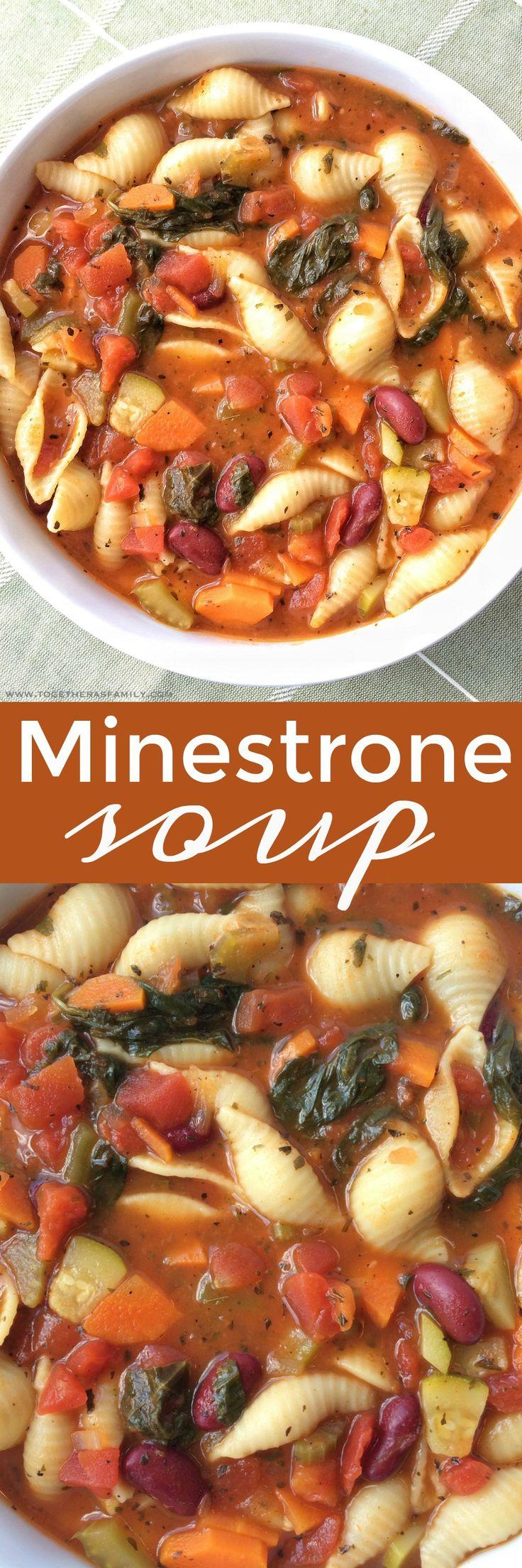 Minestrone Soup   www.togetherasfamily.com