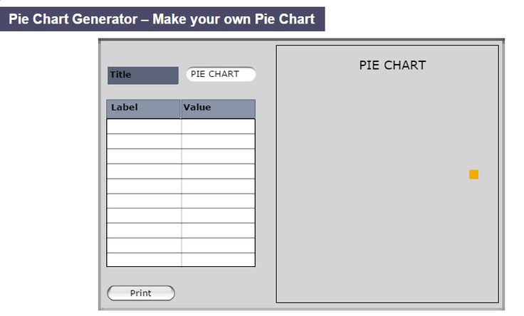"This is an image from this resource on the Internet4Classrooms' ""Second Grade Math help on standardized tests, graphs, charts, diagrams"" resource page:    Dedicated Pie Chart Generator.    Create and print colorful graphs with your own labels, values, and colors."