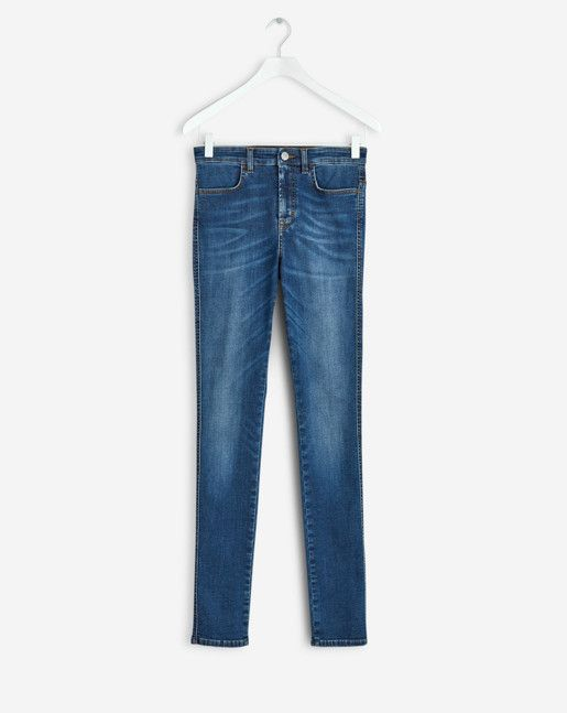 Filippa K inspiration - The look of now: Workwear blues.  Slim-fit denim jeans with a feminine higher waist in a comfortable, soft and stretchy cotton.