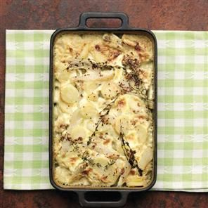 Parsnip and Jerusalem artichoke bake