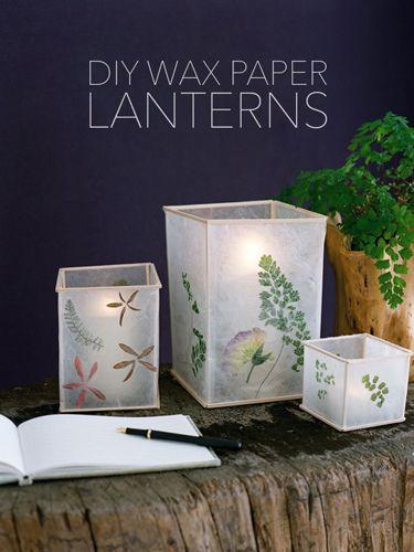 Wax Paper Lanternscountryliving