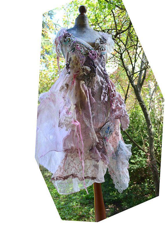 Maravilloso arte único para usar Vestido de color rosa pálido