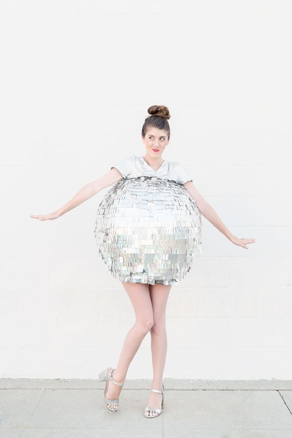 diy disco ball costume costume ideas costumes and studios. Black Bedroom Furniture Sets. Home Design Ideas