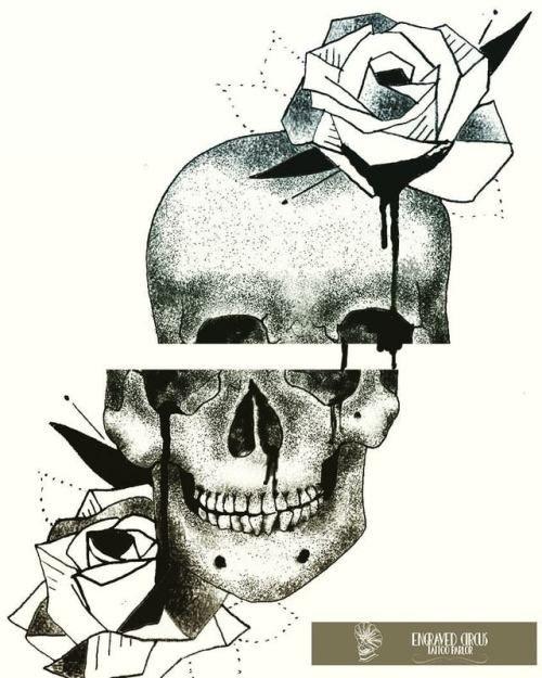 Skull n roses..  #paintingoftheday #draw #drawing #drawingoftheday #tattoo #tattooart #art #skull #rose #rosetattoo #painteveryday #engraved #engravedcircus #circus #circustattoo #athens #athenstattoo #zografou #zografoutattoo #tattooartist #artist #pi #pitheartist #stipplism #dotwork #black #blackartist