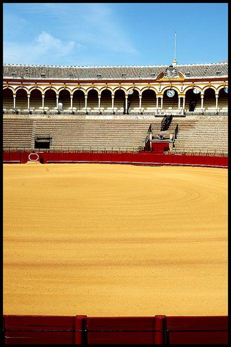 Plaza de Toros - Sevilla, Spain.  I didn't like the bullfight, I didn't get it.  Maybe I could appreciate it now.  But I love Sevilla!