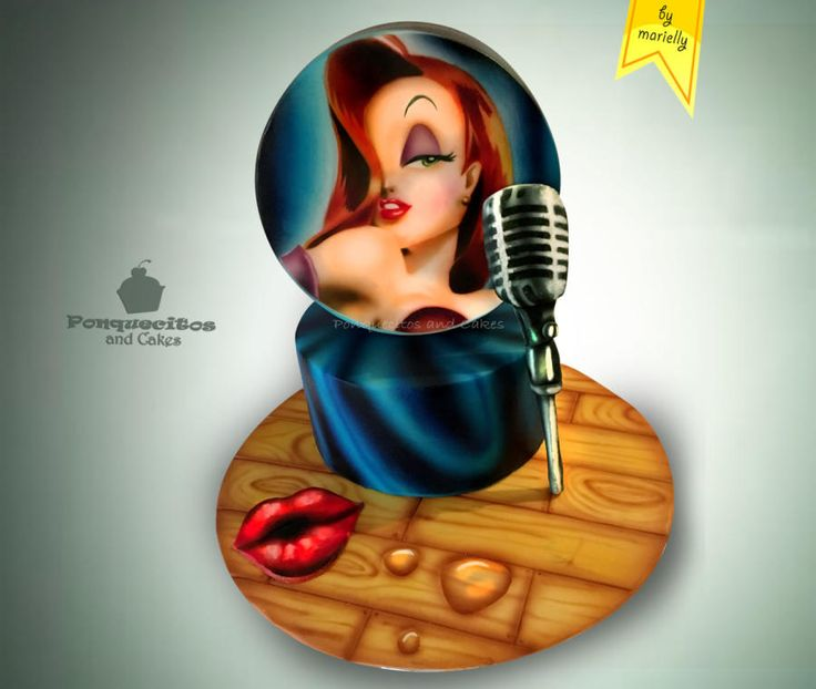 Airbrush Cake: Jessica Rabbit - Cake by Marielly Parra
