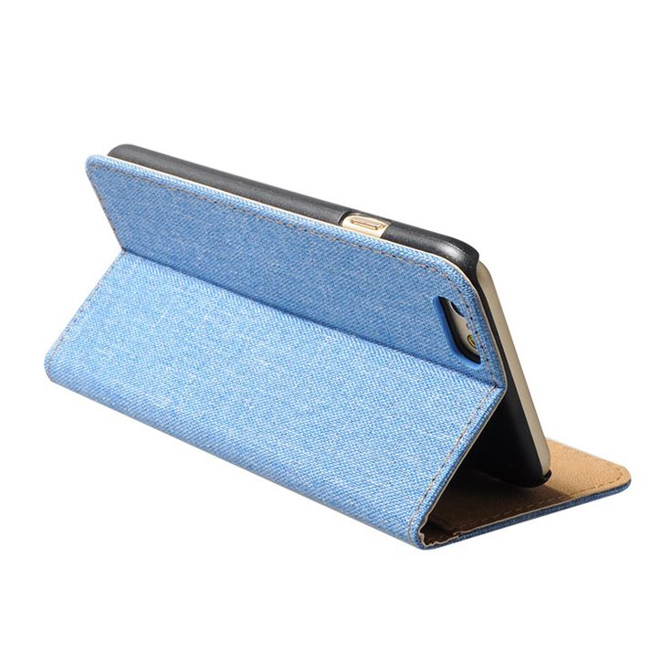 Cell phone leather case with holder.
