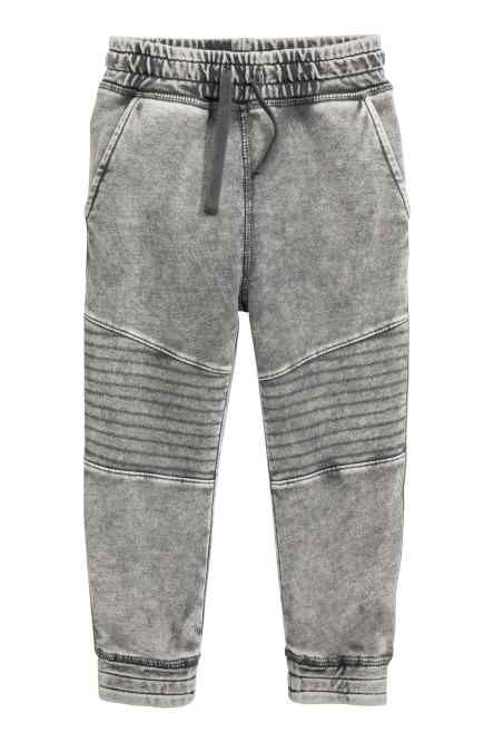 Denim-look joggers