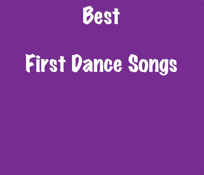 List of the Best First Dance Songs - SongListsDB #firstdance #first #dance #wedding #songs #bride #groom