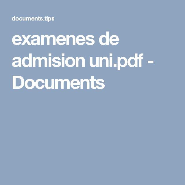 examenes de admision uni.pdf - Documents