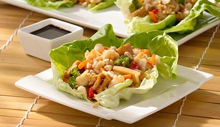 Teriyaki Chicken Lettuce Wraps #WeightWatchers #SmartOnes