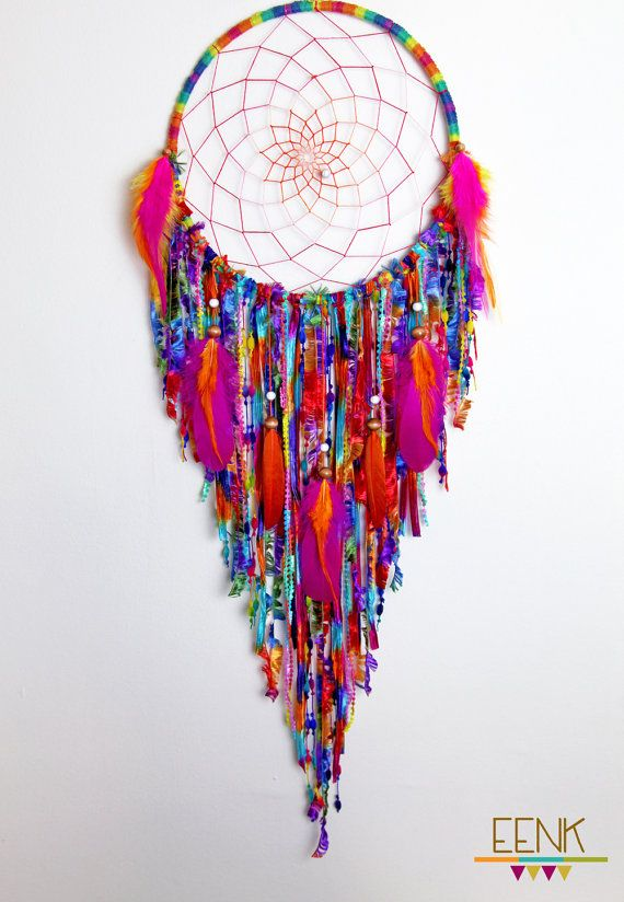 Gypsy Soul Large Native Style Handwoven Dreamcatcher by eenk