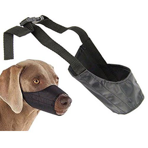 Dog Muzzle Pet Puppy Safety Mouth Cover Adjustable Stop Bit Chew Bark - http://www.thepuppy.org/dog-muzzle-pet-puppy-safety-mouth-cover-adjustable-stop-bit-chew-bark/