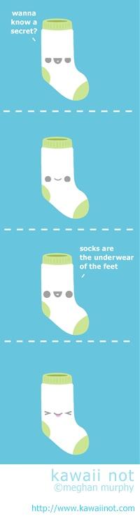 The secret of socks. (Kawaii Not Comic)