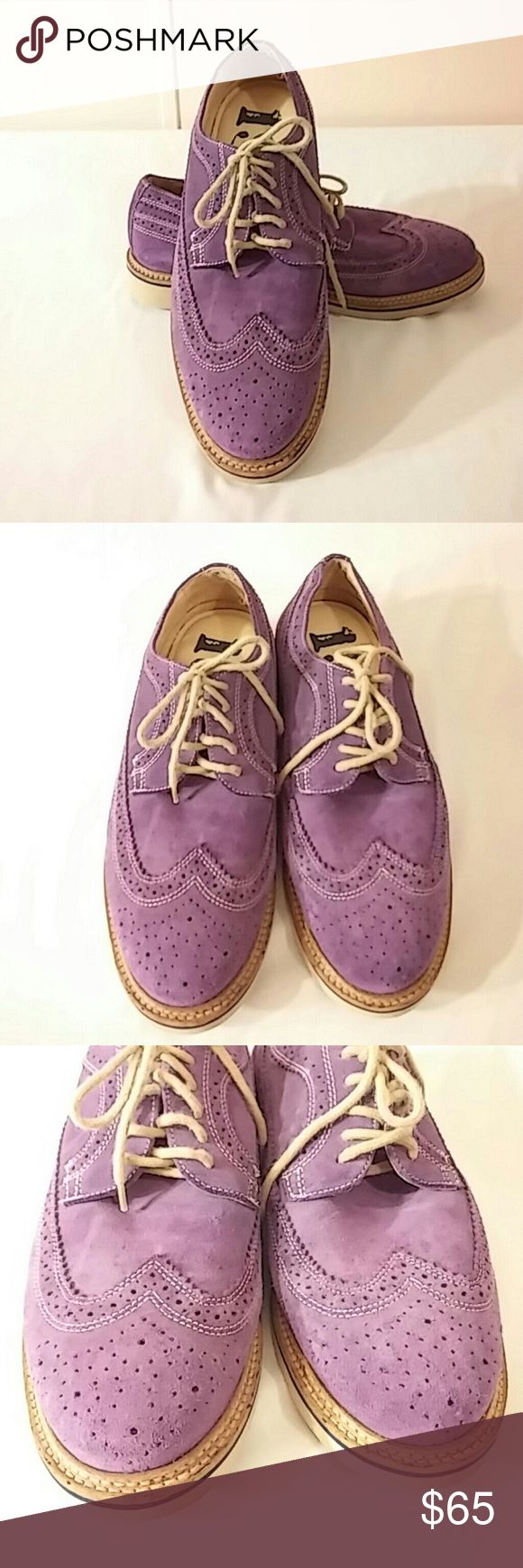 Purple Suede Leather Wing Tip Oxfords Men's 7.5 M Men's 7.5 M, purple suede wing tip oxfords.  The footbed is marked 1901.  I don't think they have been worn, but saying used in excellent condition. 1901 Shoes Oxfords & Derbys