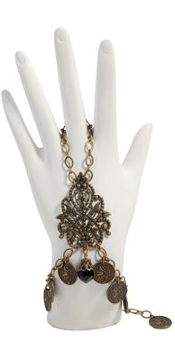 Womens - Accessories - Step In Time - Gypsy Nights - Limited Edition Finger Loop Bracelet - Style #99-029