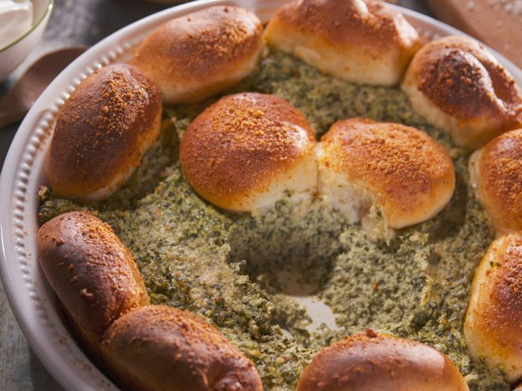 Spinach, Olive and Artichoke Dip recipe from Nancy Fuller via Food Network
