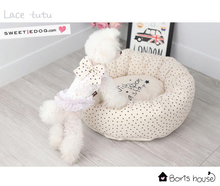 dog dress lace Tutu Boris House www.sweetiedog.com #dog #puppy #dogdress #chien #tutu #poodle #dogclothes