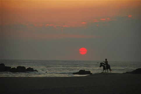 Sunset on horseback, in Las Penitas, Nicaragua.