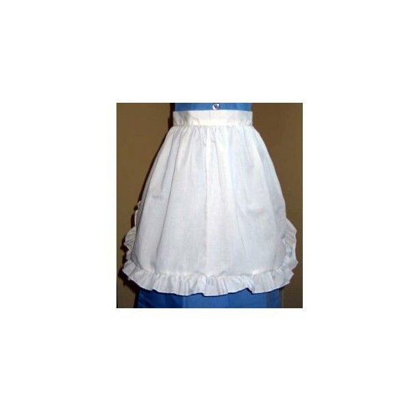 Traditional Housekeeping Maid or Waitress White Waist Apron and... ($30) ❤ liked on Polyvore featuring home, kitchen & dining, aprons, skirts, apron, dresses, white apron, white waist apron and white half apron
