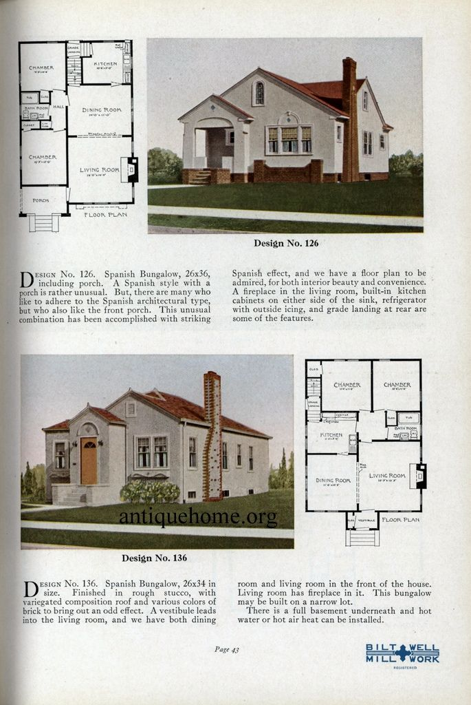 Practical Homes 1926 Minimal Traditional Spanish