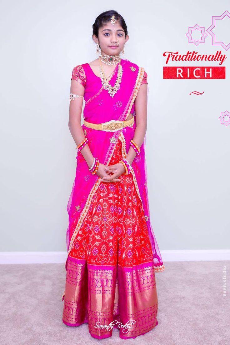 Pink and red ethnic Lehenga. sravanthireddy  traditional  lehenga  silk  pattu 08 September 2016