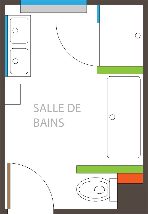 Simple ide salle de bain with amenagement salle de bain 6m2 for Amenagement salle de bain 6m2