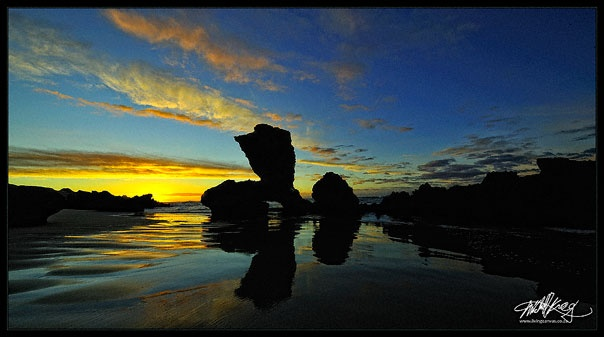 Carriage Rock is a recognisable landmark on the Kenton-On-Sea, Eastern Cape.