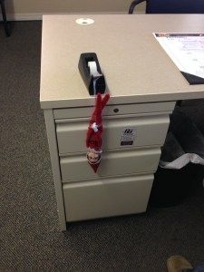 15 Elf on the Shelf ideas for the office. Even elves love office supplies! http://wp.me/p2Qhap-1Sw #work