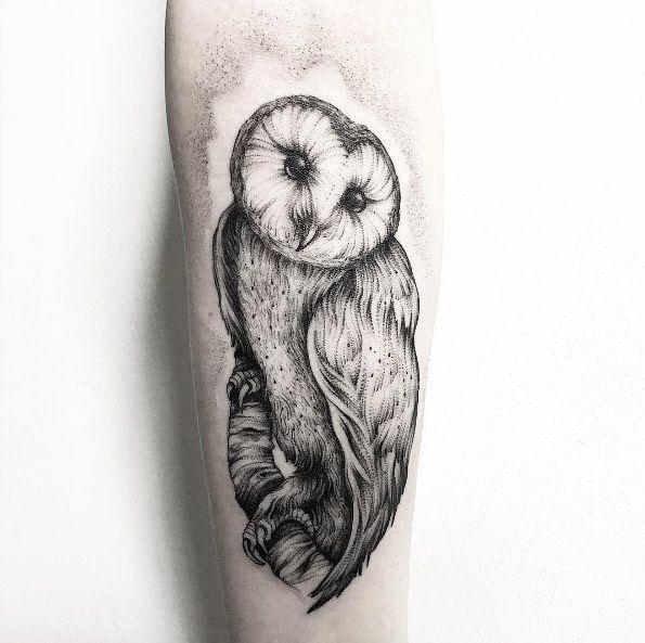 Best Animal Tattoo Designs Dotwork Barn Owl Tattoo By Parvick Barn Owl Tattoo Owl Tattoo Animal Tattoo