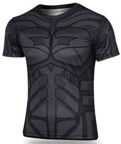 3D Batman Pattern Round Neck Short Sleeve Skinny Stylish Quick-Dry Superhero T-Shirt For Men