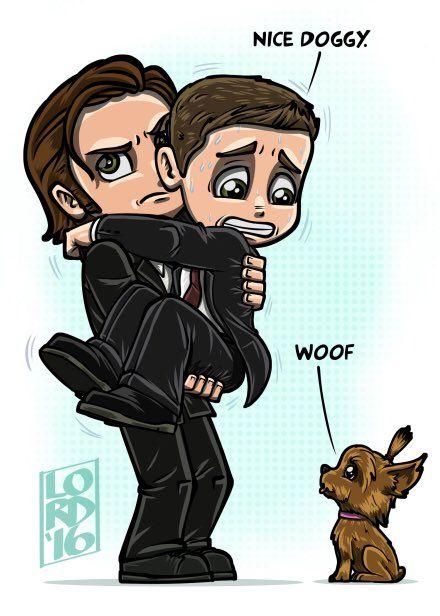-Gentil chien... -Woof !