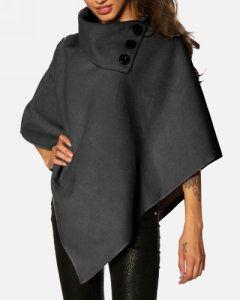 London K - Poncho Anthracite - Abrigo corto - Mujer