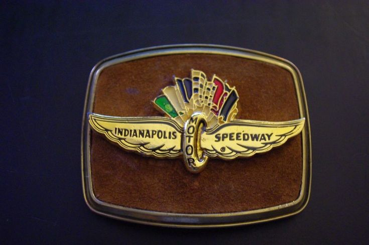 1979 Indianapolis Motor Speedway Multi-colored Belt Buckle Collectible. #Casual