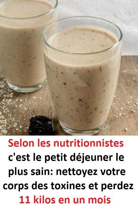 Selon les nutritionnistes c'est le petit déjeuner le plus sain: nettoyez votr…