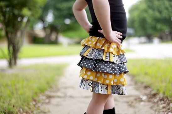Ruffle Skirt Pattern, Girl's Skirt Pattern, Anna Ruffled Skirt, 12 months to 12 years by ThreadCouture on Etsy https://www.etsy.com/listing/245030016/ruffle-skirt-pattern-girls-skirt-pattern