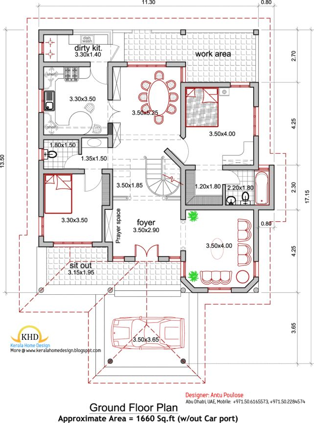 [General] Best 29 Nice Pictures Kerala Architectural House Plans: Home Design Architecture House Plans Elevation 2165 Sq Ft Kerala Home