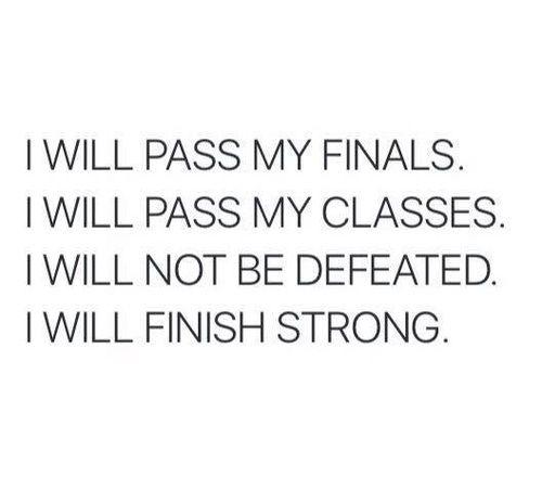 school, finals, and motivation
