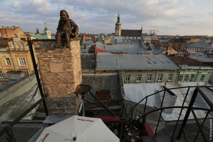 Chimney sweeper in Lviv