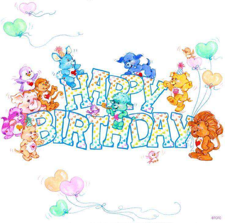 Care Bear Birthday Bear Cake