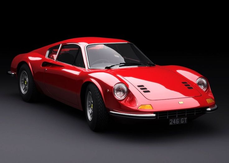 Ferrari Dino- Excellent looking car. Powered by a V6 instead of a V8, thus it was snubbed by Ferrari purists. I wouldn't snub it. Guess I'm not a purist! :)