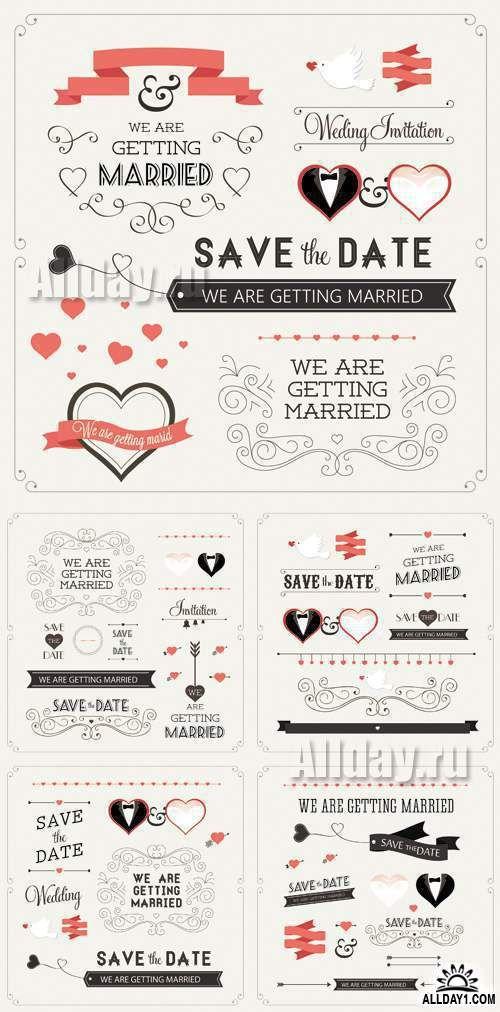 Wedding Design Elements Vector 2
