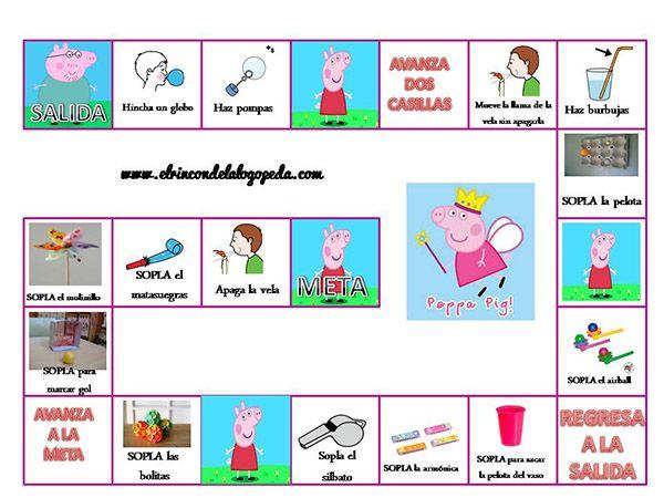 Sopla con Peppa Pig, un material que utilizo para trabajar el soplo