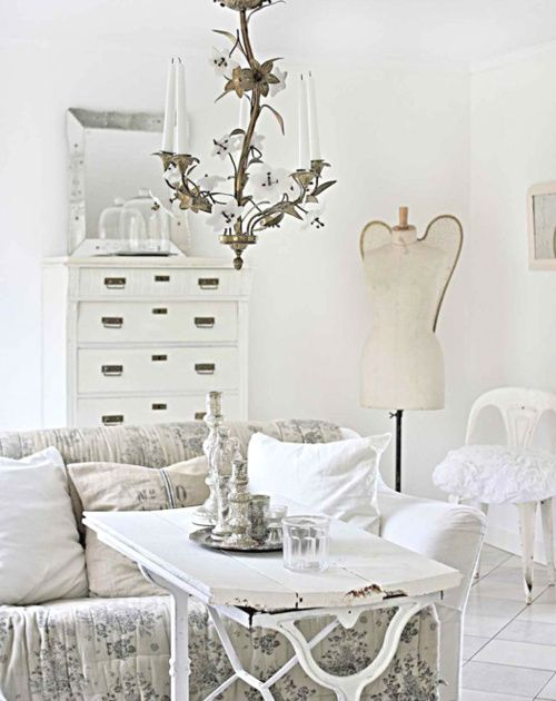 Shabby chic rustic french country decor idea interiores for Decoracion country chic
