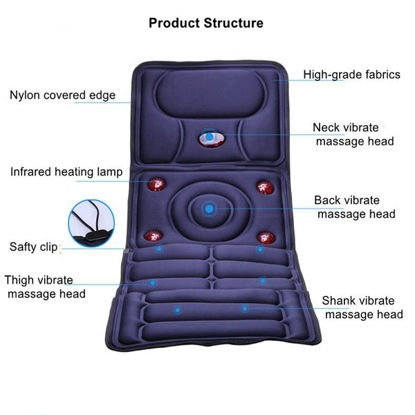 Collapsible Full-body Massage Mattress Multifunction Massager Cushion#Full-body Massage Mattress#Multifunction Massager Cushion