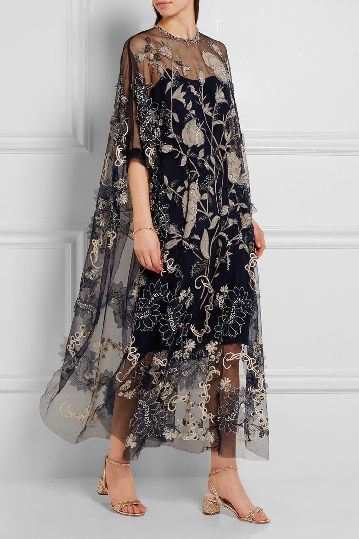 Biyan | Assad embellished embroidered tulle dress | NET-A-PORTER.COM